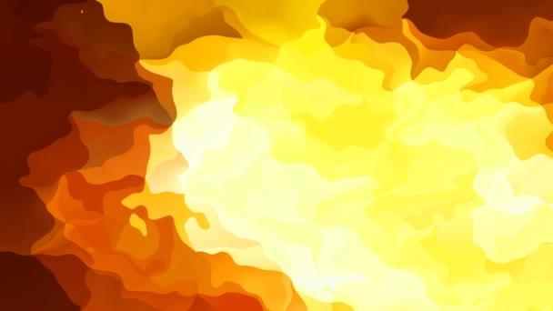 abstraktní animované barevné pozadí bezešvé smyčka video - vytvoří efekt vodových barev - ohnivé žlutá oranžová červená