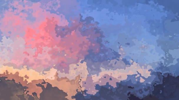 abstraktní, animované obarví pozadí bezešvé smyčka video - akvarel skvrnou efekt - roztomilý pastelových barev - baby blue, starorůžová, lila a taupe