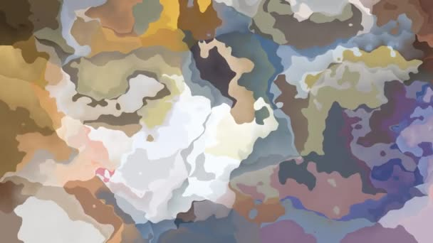 absztrakt animált festett háttér folyamatos hurok video - akvarell splotch hatás - világos színű természetes - fehér, bézs, okker, szürke, lila, lila és mályva