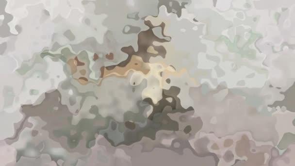 abstraktní, animované obarví pozadí bezešvé smyčka video - akvarel skvrnou efekt - světle béžové, šedohnědá, lila a šedé barvy
