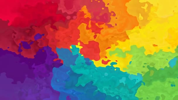 abstract animated stained background seamless loop video - watercolor splotch effect - rainbow full color spectrum - magenta, pink, red, orange, yellow, green, blue, violet and purple
