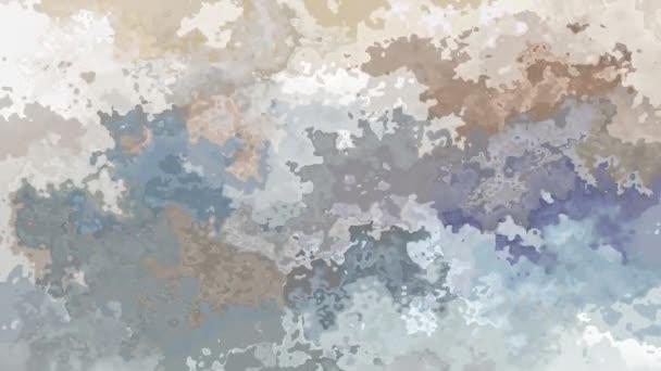 abstraktní, animované barevné pozadí bezešvé smyčka video - akvarel skvrnou efekt - světle béžová, taupe, šedá a břidlicové barvy