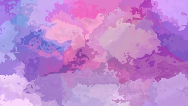 abstract animated stained background seamless loop video - watercolor splotch effect - cute pink, puprle, violet and lavender color