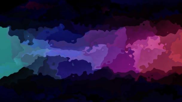 abstraktní, animované obarví pozadí bezešvé smyčka video - akvarel skvrnou efekt - neon rainbow plnobarevným spektrem strip - purpurová, růžová, zelená, modrá, fialová, fialová a černá