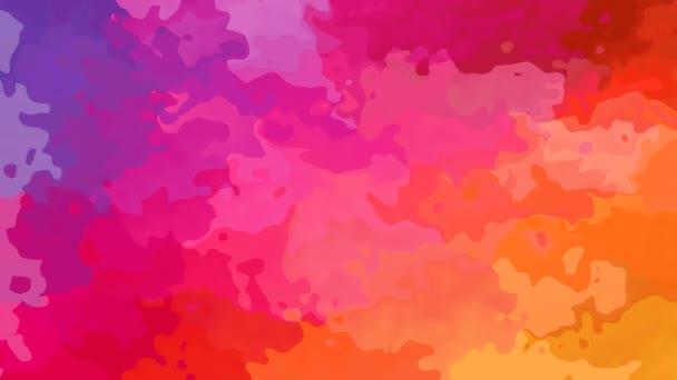 absztrakt animált festett háttér folyamatos hurok video - akvarell splotch hatás - fél szivárvány teli befest színkép - bíbor, rózsaszín, piros, narancs, sárga, zöld, kék, lila, lila
