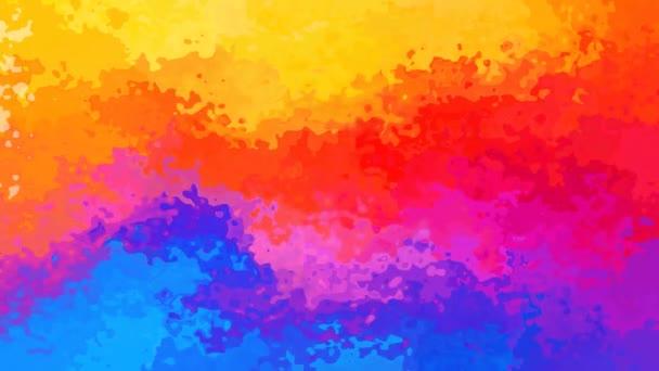 abstraktní, animované obarví pozadí bezešvé smyčka video - akvarel skvrnou efekt - neon plné barvy spcectrum půl duhy