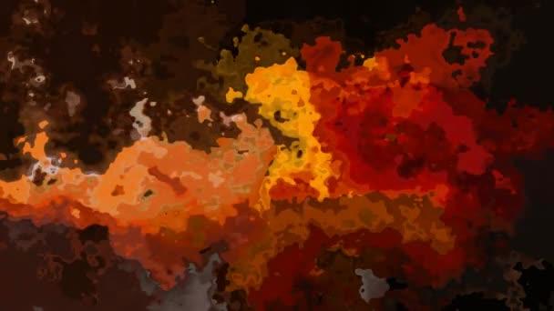 abstraktní animovaný twinking obarví bezešvé smyčka video - akvarel skvrnou efekt - podzimní podzim červená oranžová žlutá hnědá barva pozadí