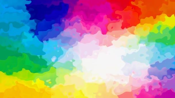 absztrakt animált twinking festett háttér varrat nélküli hurok a video - akvarell splotch hatás - színes spektrum szivárvány - kék, rózsaszín, piros, narancs, sárga, zöld, lila