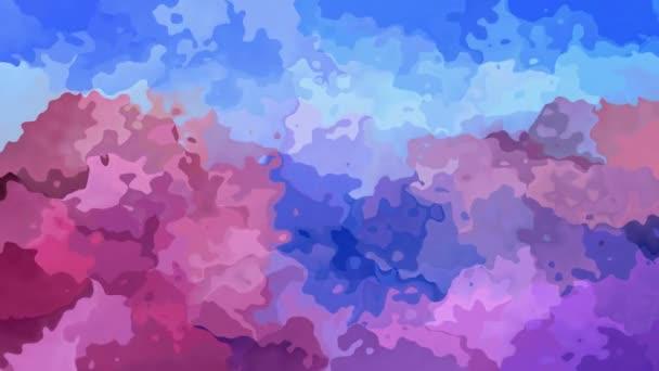 abstraktní animovaný twinking obarví barva pozadí videa - akvarel skvrnou efekt - bezešvé smyčka nebesky modrá růžová levandule fialové lila západ slunce