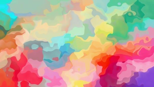 absztrakt animált twinking festett háttér varrat nélküli hurok a video -, akvarell splotch hatás - édes pasztell teljes színskála - rózsaszín, piros, kék, lila, zöld, sárga és narancs