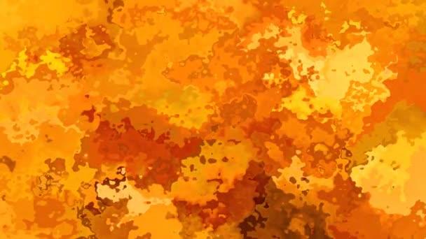 abstraktní animovaný twinking obarví pozadí bezešvé smyčka video - akvarel skvrnou efekt - zvýraznění oranžovou okrová hnědá ohnivé barvy
