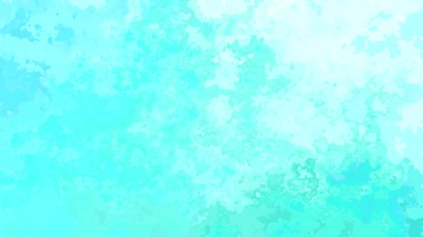 abstract animated twinkling stained background seamless loop video - watercolor splotch effect - ocean lagoon blue mint green turquoise color