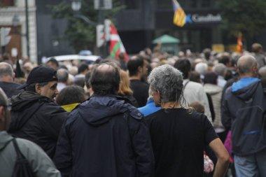 Bask Ülkesi ve Katalonya 'nın bağımsızlığını isteyen gösteri