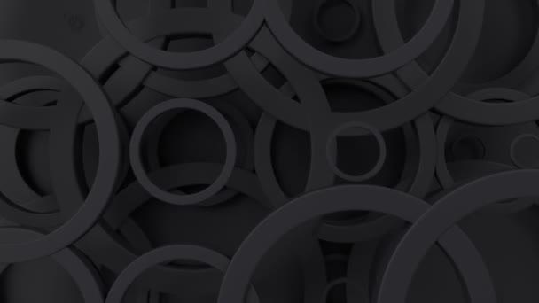 Absztrakt geometriai mintázat körökkel. Loopable mozgó háttér. 3D modern Háttérkép Animált gyűrűkkel.
