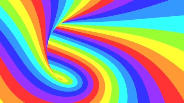 Spektrální psychedelická optická iluze. Abstraktní duhové hypnotické animované pozadí. Jasná smyčka barevné tapety