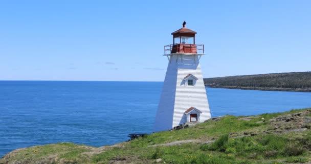 Wildschweinkopf Leuchtturm in Nova Scotia, Kanada 4k