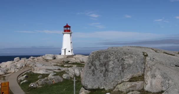 Blick auf den Leuchtturm der Peggys-Bucht, nova scotia 4k