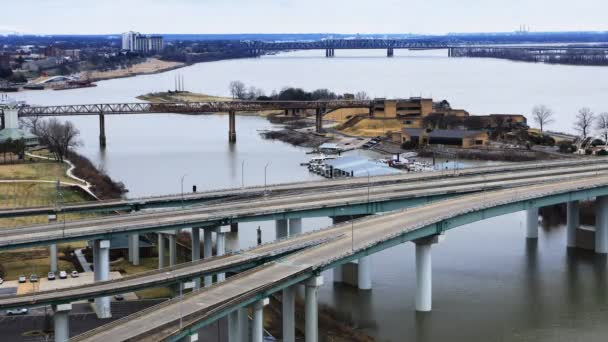 Timelapse at Bridge over Mississippi River at Memphis 4K