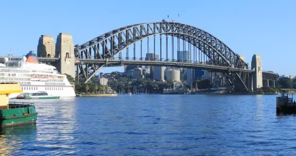 Iconic Sydney Harbour Bridge in Australia 4K