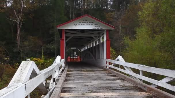 Jacksons Mill Covered Bridge in Bedford County, Pennsylvania, Spojené státy