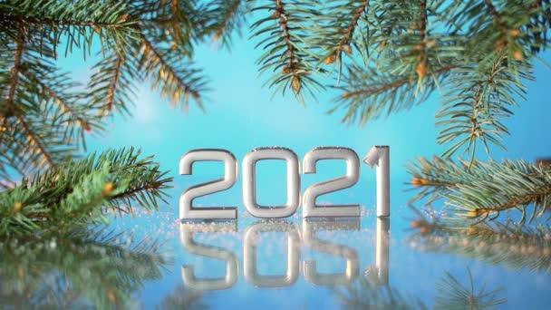 Közelről. új év 2021 hópehely ősz.