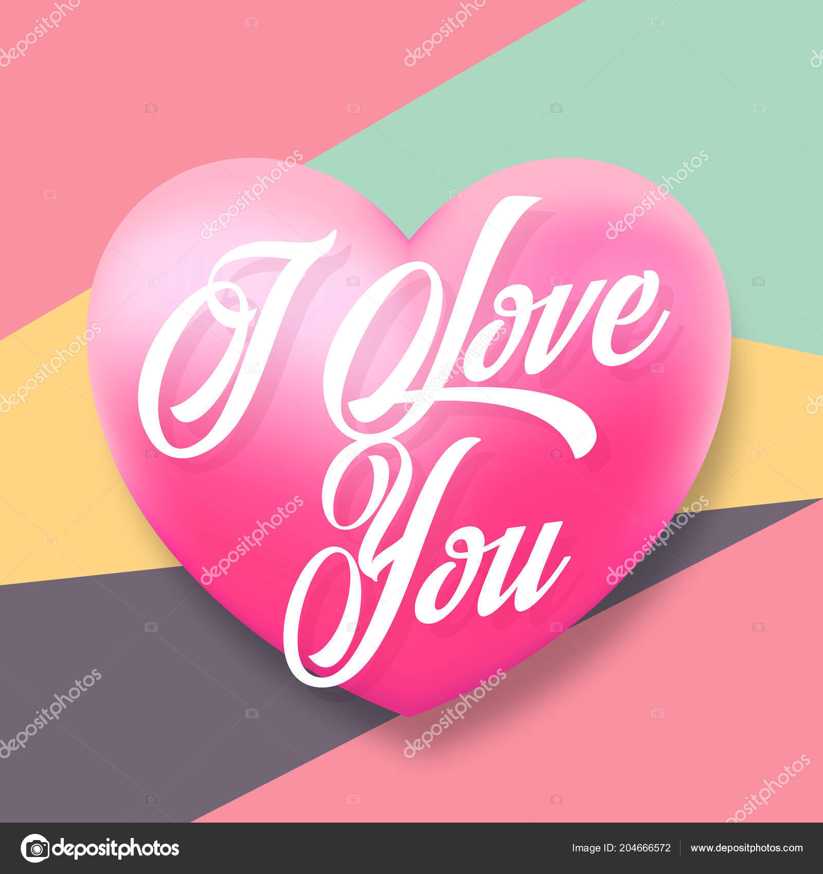 Gentle Typography Valentines Day Vector Greetings With Pink Heart