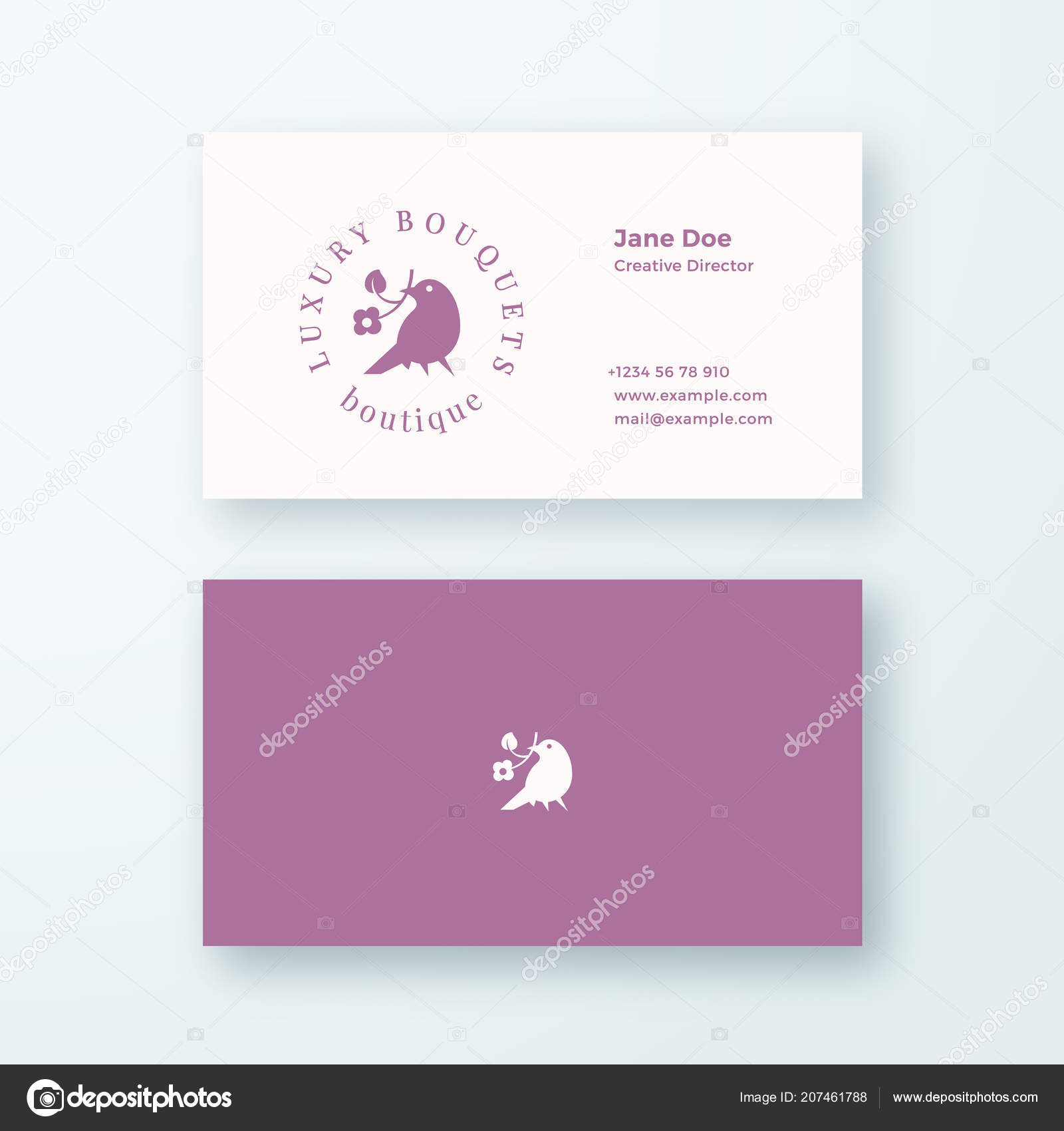 Abstract Feminine Vector Sign Symbol Or Logo And Business Card