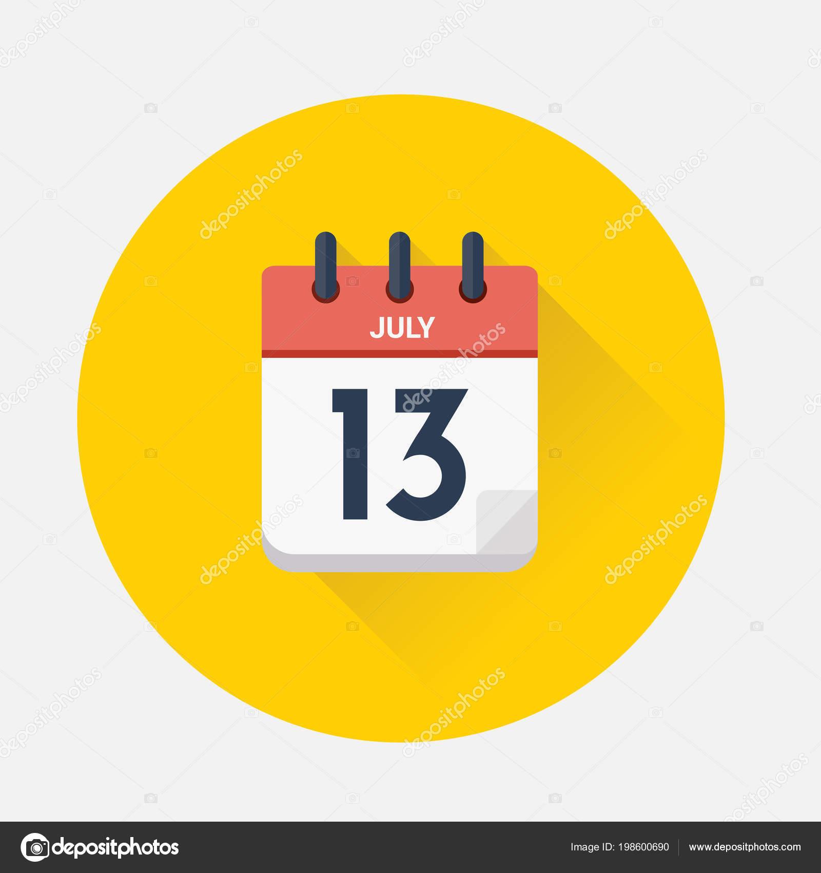 Calendario Giorno.Illustrazione Vettore Calendario Giorno Con Data Luglio 2018