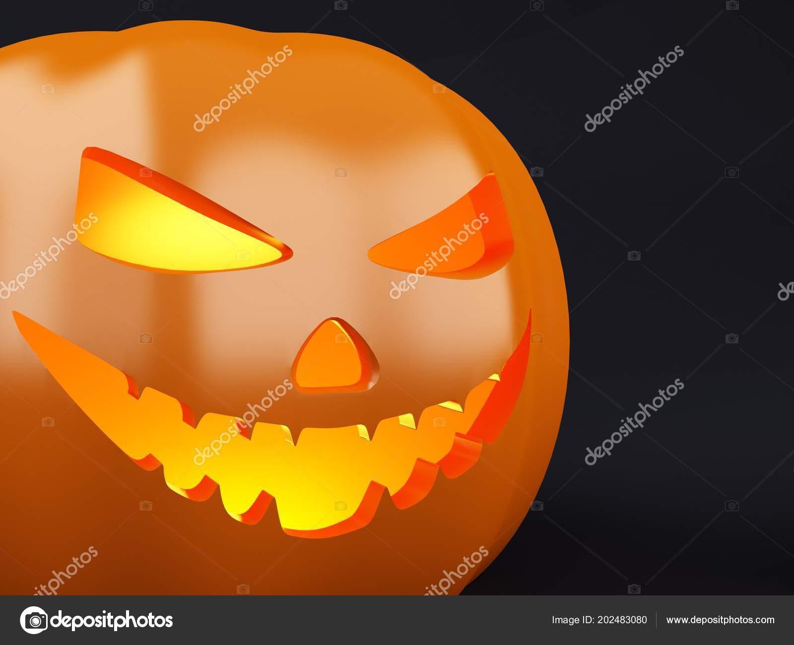Illustration Happy Halloween Pumpkin Candle Light Hat Yellow Background Stock Photo C Nicomenijes 202483080