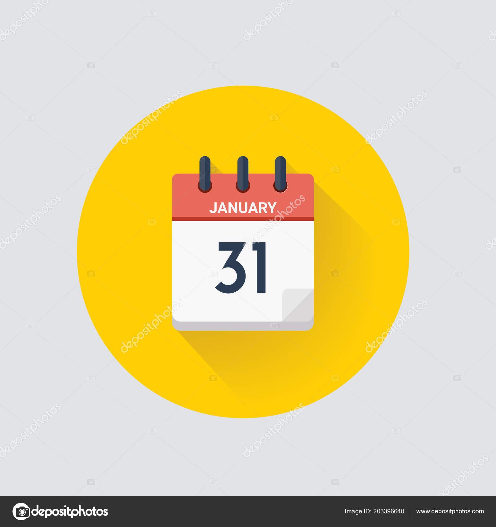 Calendario Giorno.Illustrazione Vettore Calendario Giorno Con Data Gennaio