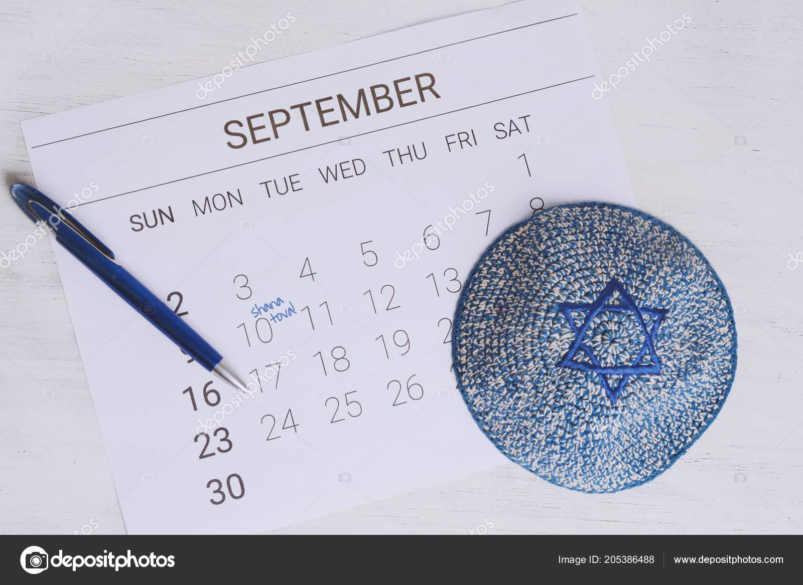 Calendario Ebreo.Calendario Con Kippah Calendario Con Data Settembre Rosh