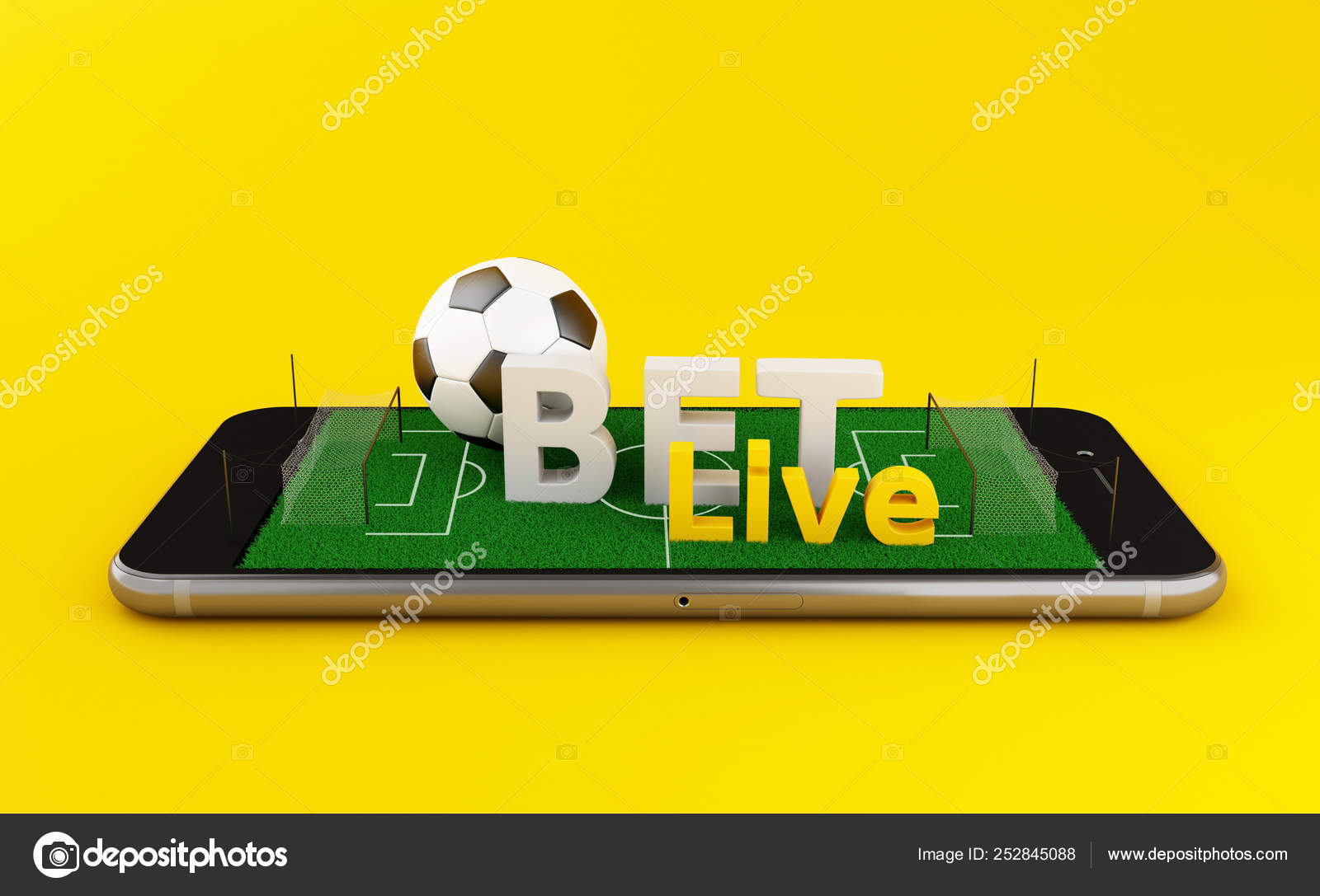3d Soccer bet online ⬇ Stock Photo, Image by © nicomenijes #252845088