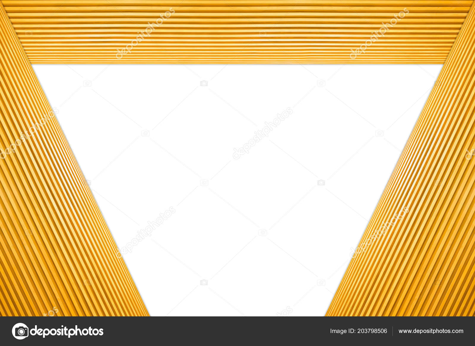 Stacked Trapezoid Frame Light Brown Wooden Isolated White Background ...