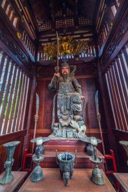 Pleiku, Vietnam - 11 July 2020: Buddha statues, architectural details of Minh Thanh pagoda, a majestic Buddhist architectural structure in Pleiku city, Gia Lai province (Central Highland of Vietnam)