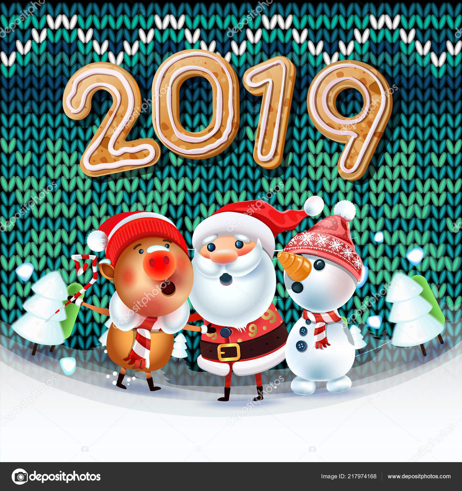 2019 St Dj Songs Dowode 4 33 Mb: 2019 Merry Christmas New Year Poster Santa Claus Snowman