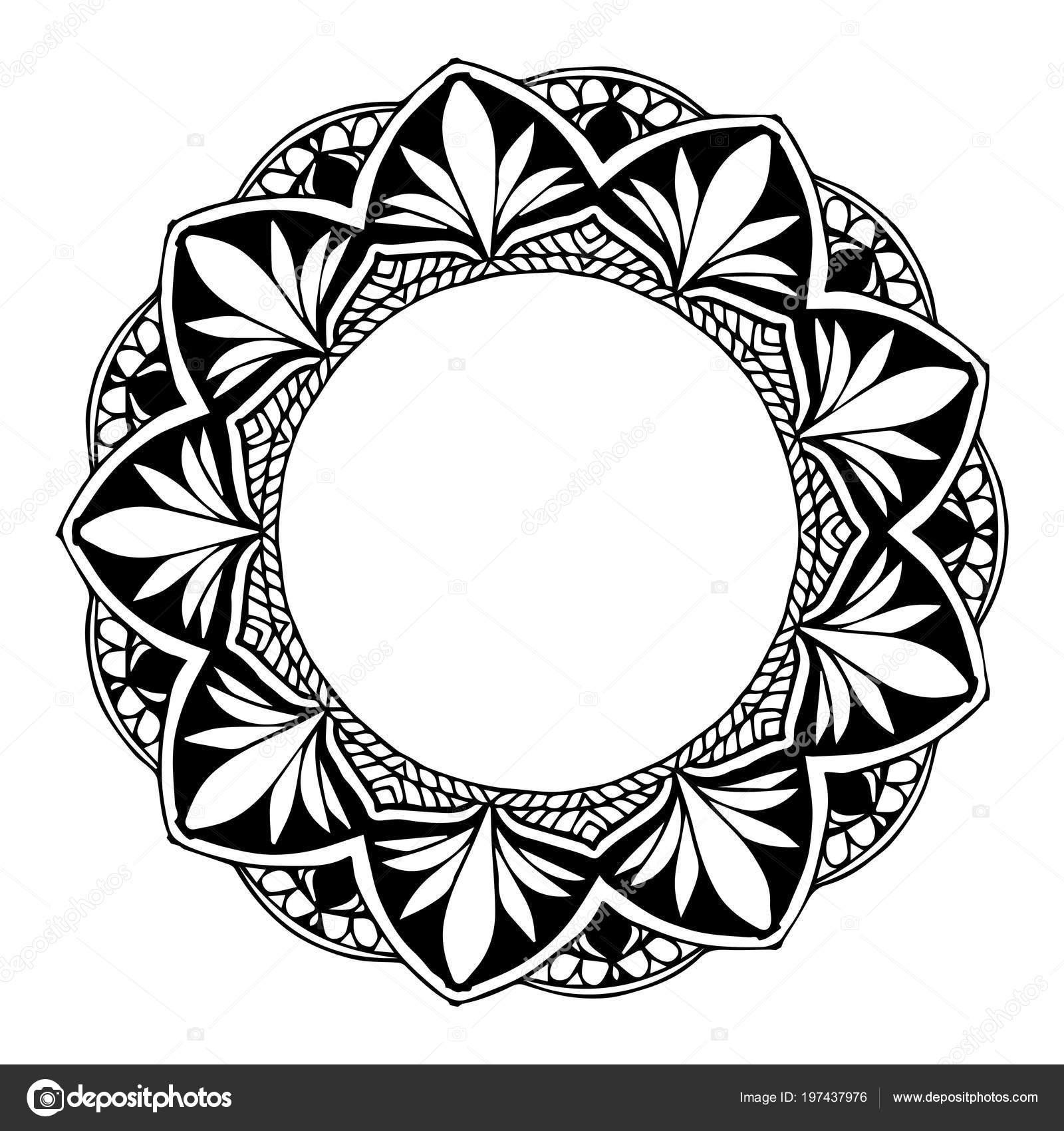 Mandalas Coloring Book Decorative Ornaments Unusual Flower Shape Oriental Vector