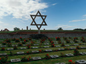 Star of David at the memorial cemetery in the Little Fortress in Terezin (Theresienstadt) in the Czech Republic