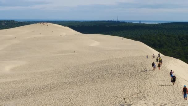 Dune du Pilat, Gironde,Nouvelle Aquitaine, France. at the bottom of the dune is the Landes forest.