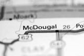 McDougal. Arkansas. USA on a geography map