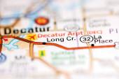 Long Cr. Illinois. USA na mapě geografie