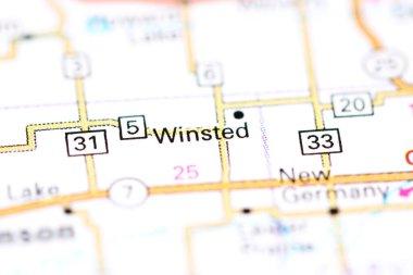Winsted. Minnesota. USA on a map