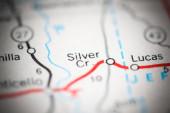 Silver Cr. Mississippi. USA na mapě geografie