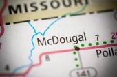 McDougal. Arkansas. USA map