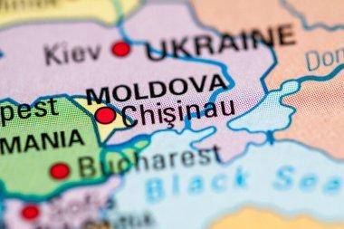 Chisinau, Moldova. Geogrphy concept closde up shot
