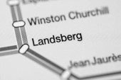 Landsberger Bahnhof. Straßburger Metro Karte.