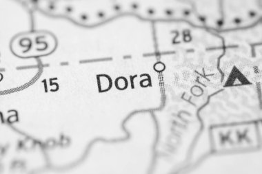Dora. Missouri. USA map