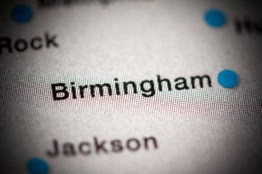 Birmingham, USA cartography illustration map