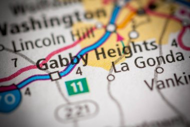 Gabby Heights. Pennsylvania. USA map