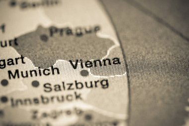 Vienna, Austria cartography illustration map