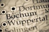 Bochum. Deutschland auf einer geografischen Karte